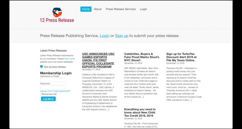 12 press release
